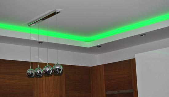 Sufit LED w kuchni