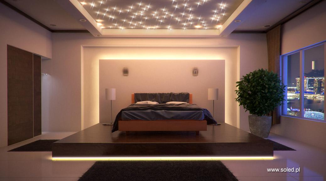 Romantyczne Oświetlenie Sypialni I Pomysł Na Toaletkę