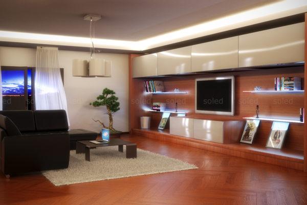 Oświetlenie sufitowe LED w salonie