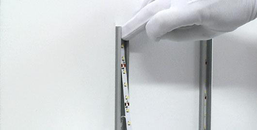 Montaż taśmy LED w profilu