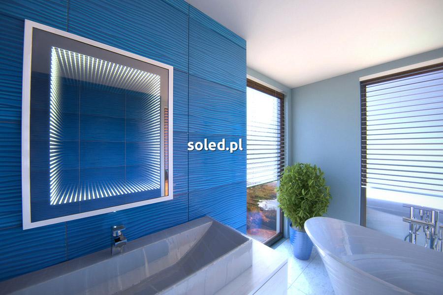 lustro 3D efekt glebi w łazience - wizualizacja