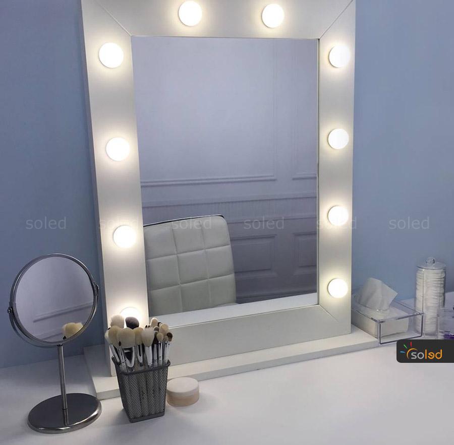 lustro białe do make up