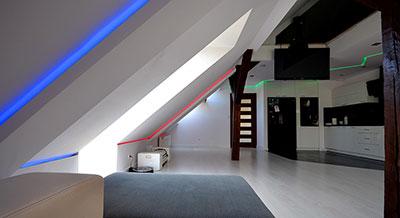Podświetlenie sufitu LED na wymiar