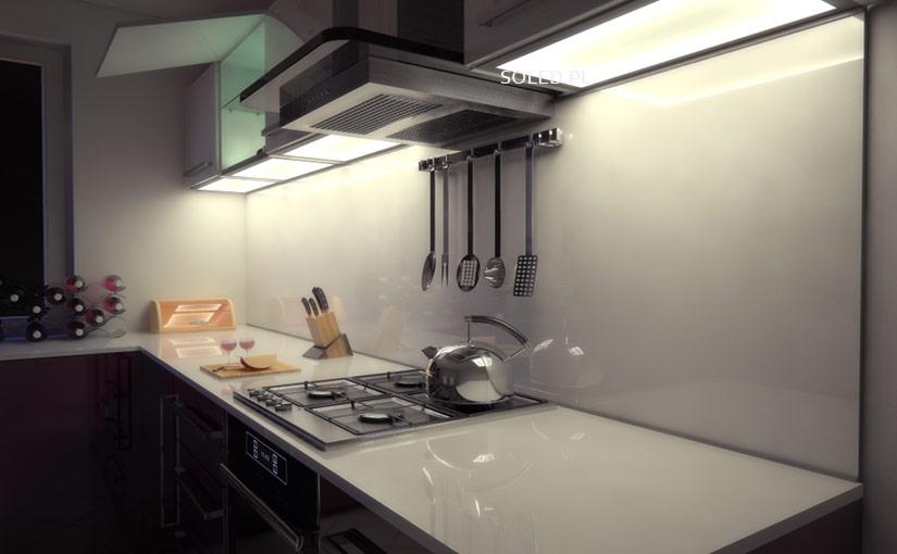 Szklany wieniec kuchenny alternatywą dla oświetlenia punktowego w kuchni