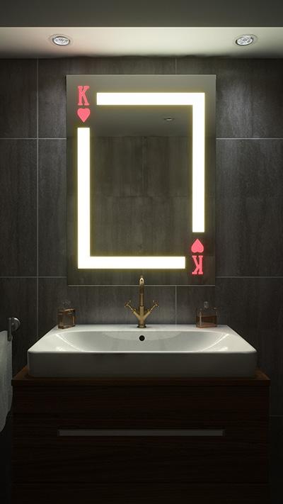 lustro selfie king w łazience