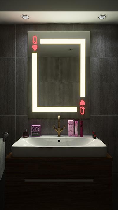 lustro selfie queen w łazience