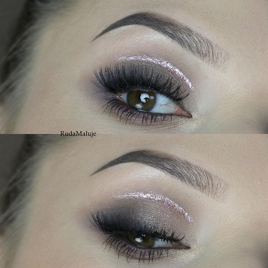 makeup oka wykonany przez Ruda Maluje