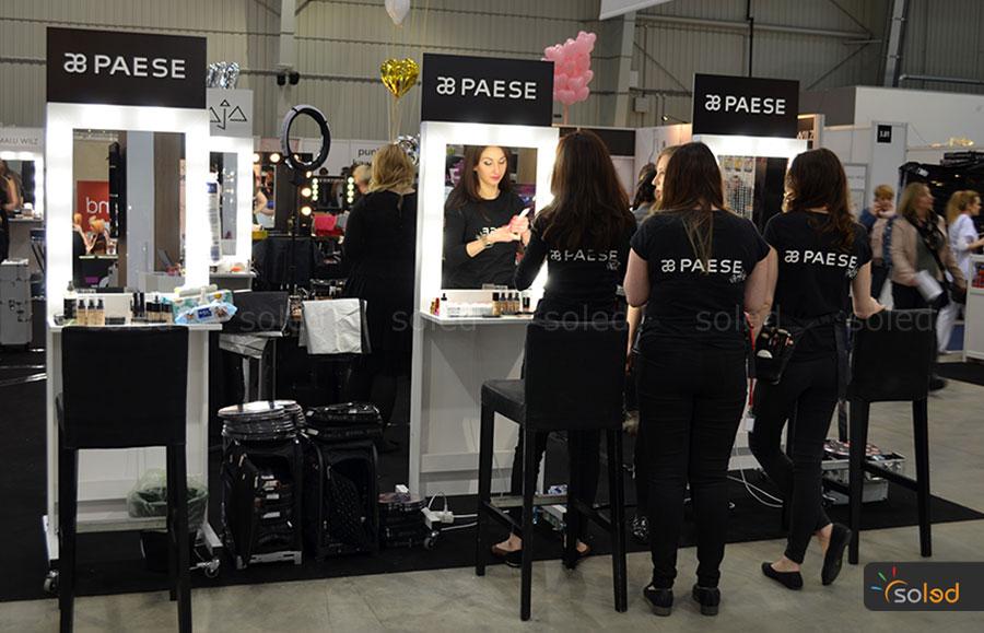 Stanowiska SOLED dla marki PAESE na The Makeup Day Poland 2017