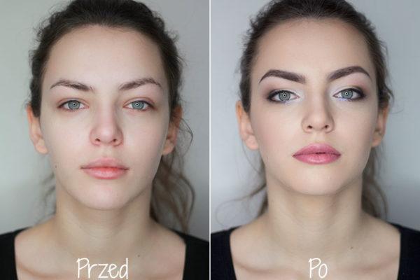makijaż szkolny school elegance przed i po