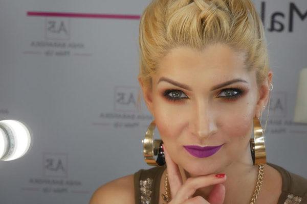 makijaż glamour ze złotym akcentem Pani Anny Barańskiej