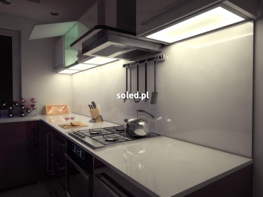 wieńce LED wykonane z użyciem taśmy LED do kuchni