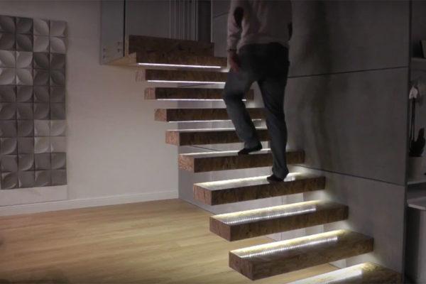 podświetlone schody LED