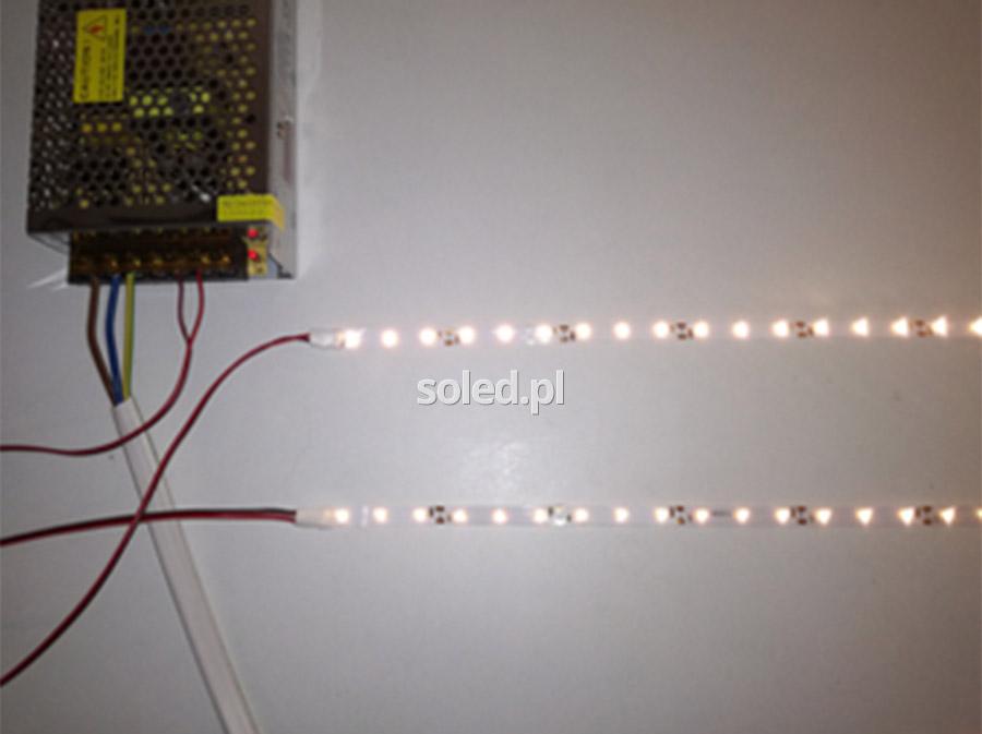 spadki napiecia taśm LED w długich odcinkach