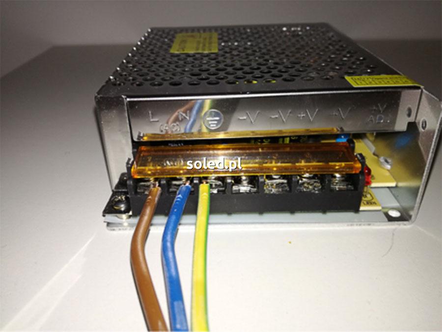 zasilacz LED z przewodami