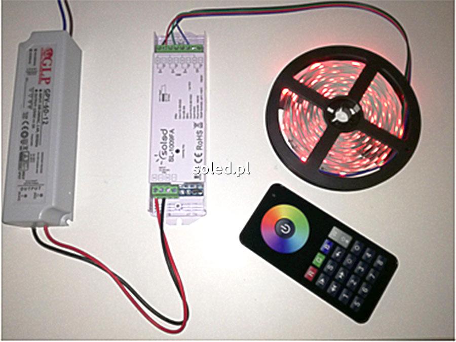 Taśmy LED RGB wielokolorowe